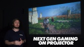 Nopea katsaus - Next Gen Gaming on Projector - BenQ TH585 DLP Projector
