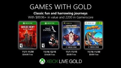 Xbox - Marraskuu 2019 Games with Gold
