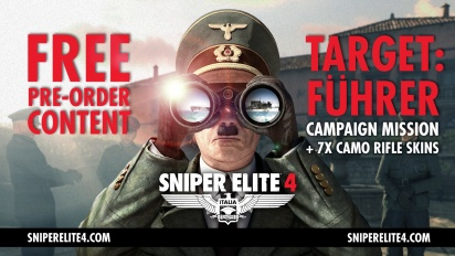 Sniper Elite 4 - Target: Führer -julkistustraileri