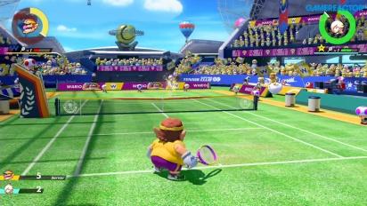 Mario Tennis Aces - Wario vs Rosalina Pro-pelikuvaa