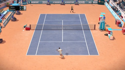 Tennis World Tour - John McEnroe vs. Andre Agassi -pelikuvaa