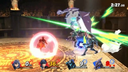 Super Smash Bros. Ultimate - Samus Oscura ja Chrom -pelikuvaa