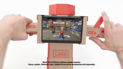Mario Kart 8 Deluxe - Nintendo Labo -traileri