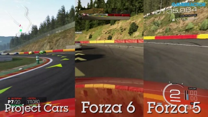 Forza Motorsport 6 vs Project CARS vs Forza 5 -vertailu: Spa-Francorchamps