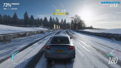 Forza Horizon 4 - Winter Derwent Lakeside Sprint 4K 60 fps -pelikuvaa
