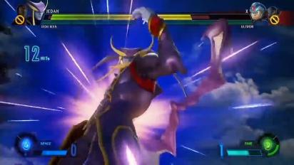 Marvel vs. Capcom: Infinite - Näytösottelu, jossa mukana Jedah ja Gamora