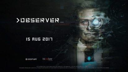 Observer - The Year is 2084 -traileri (PS4)