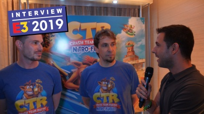 Crash Team Racing Nitro-Fueled - Stephane Gravel & Andrew Petrie haastattelussa