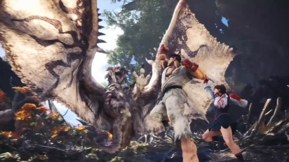 Monster Hunter World - Sakura ja Ryu Street Fighter V: AE -yhteistyö