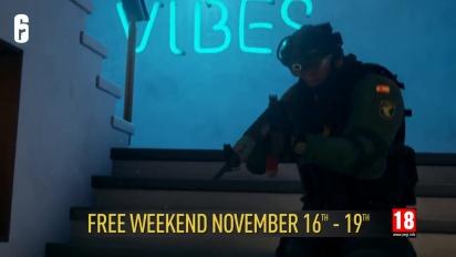Tom Clancy's Rainbow Six Siege - ilmainen viikonloppu 16.-19.11.