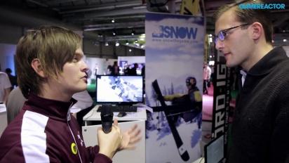 Snow - haastattelussa game director Bergendahl