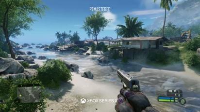 Crysis Remastered Trilogy - Xbox 360 vs. Xbox Series X -vertailutraileri