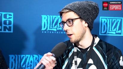 BlizzCon HGC Finals - Cattlepillar haastattelussa