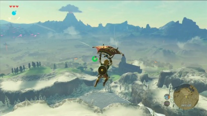 The Legend of Zelda: Breath of the Wild - Paraglider Gameplay