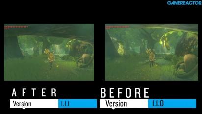 The Legend of Zelda: Breath of the Wild - Gameplay ruudunpäivityksen vertailu ennen ja jälkeen 1.1.1 -päivityksen