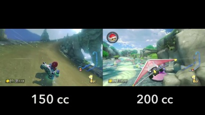 Mario Kart 8 - 150cc vs 200cc Dolphin Shoals Gameplay