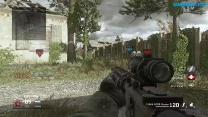 Call of Duty: Modern Warfare Remastered - Domination-pelikuvaa Overgrown-kartassa