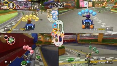 Mario Kart 8 Deluxe - Battle Mode Nintendo Treehouse -moninpelikuvaa