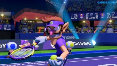 Mario Tennis Aces - Waluigi vs Yoshi Demo -pelikuvaa