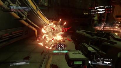 DOOM Multiplayer Closed Alpha - Gameplay Video