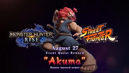 Monster Hunter Rise - Street Fighter Collab Traileri