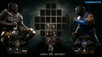 Mortal Kombat 11 - Geras vs. Sub-Zero Reveal Event Gameplay