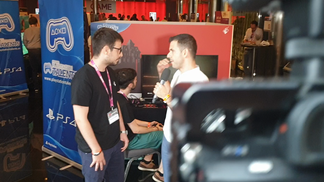 Gamelab 2019 interview setting